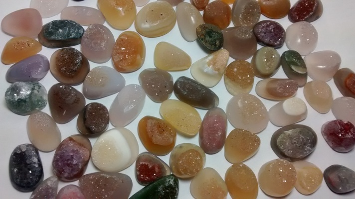 Stones from Uruguay - Polished Druzy Free Form Cabochons, Size 10-20mm