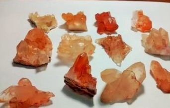 Stones from Uruguay - Tangerine Quartz Cluster for Pendants