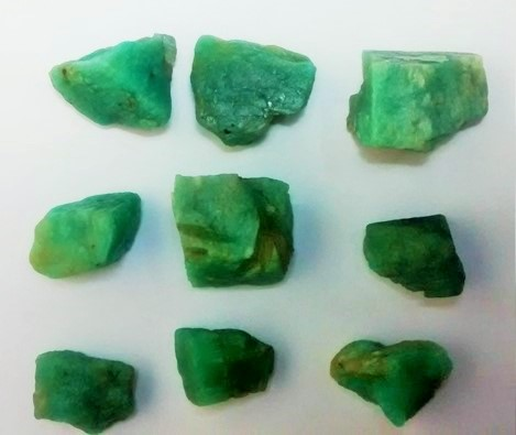 Stones from Uruguay - Raw Amazonite for Pendants