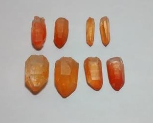 Stones from Uruguay - Natural Tangerine Lemurian Quartz Crystal Point Pairs