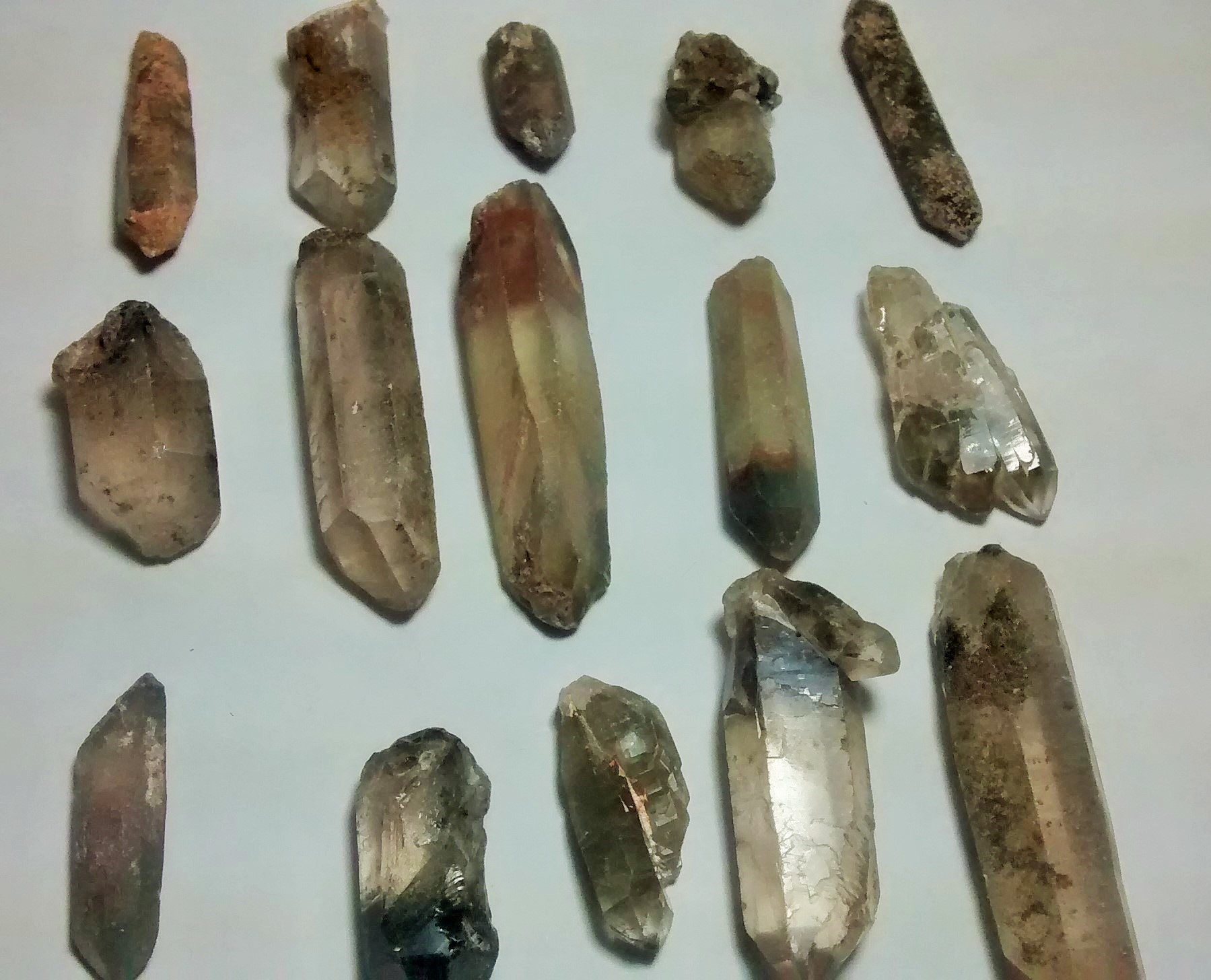 Stones from Uruguay -  Phantom Crystal Points(mixed colors)