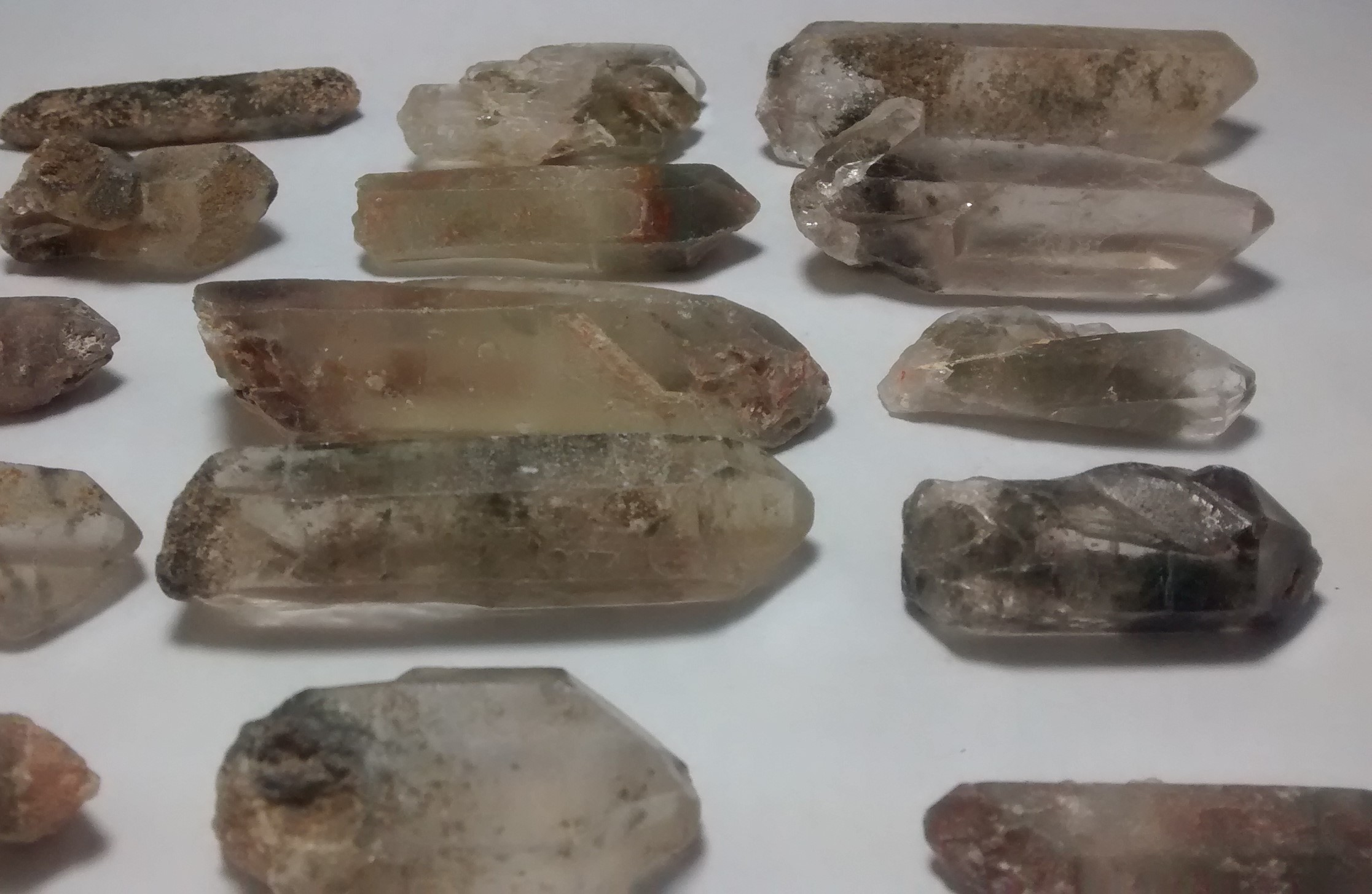 Stones from Uruguay - Phantom  Quartz Crystal Points(mixed colors)