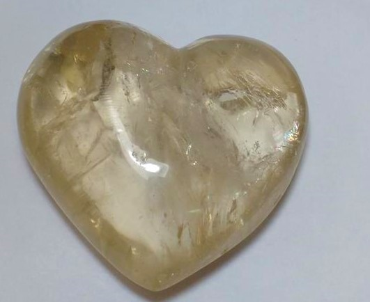 Stones from Uruguay - Smoky Quartz Heart for Home & Decor