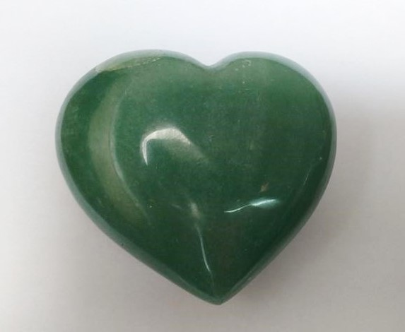 Stones from Uruguay -  Green Quartz Heart for Home & Decor