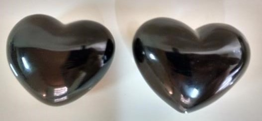 Stones from Uruguay - Black Obsidian Heart
