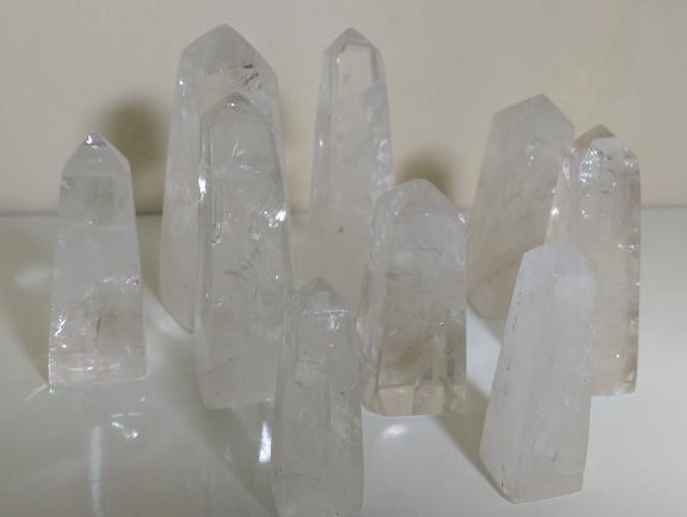 Stones from Uruguay - Clear Crystal Obeslik for Home