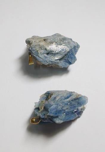Stones from Uruguay - Blue Kyanite Druzy Pendant with Bail