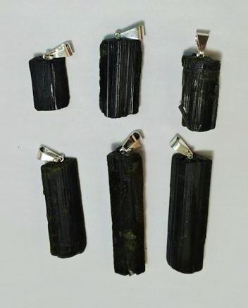 Stones from Uruguay - Rough Epidote Pendant with Drill Hole and Bail