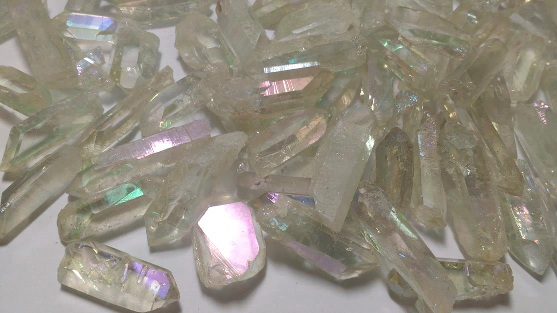 Stones from Uruguay - Angel Aura Quartz Points (matize)