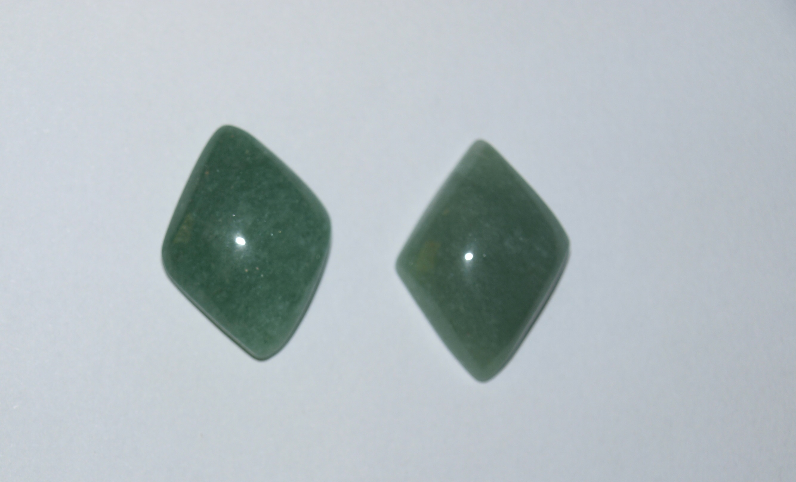 Stones from Uruguay - Green Aventurine Losango Cabochon for Earring Making