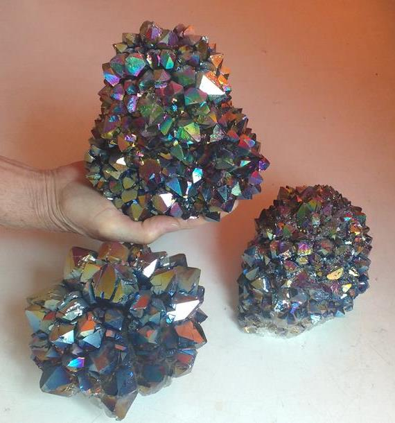 Stones from Uruguay - Rainbow Aura Coated Large Amethyst Druzy Flower