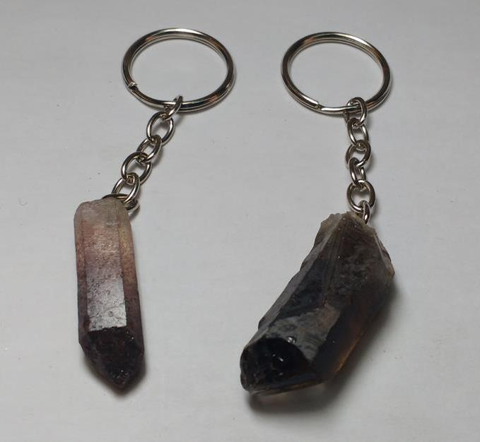 Stones from Uruguay - Red Fire Quartz Point Keychains