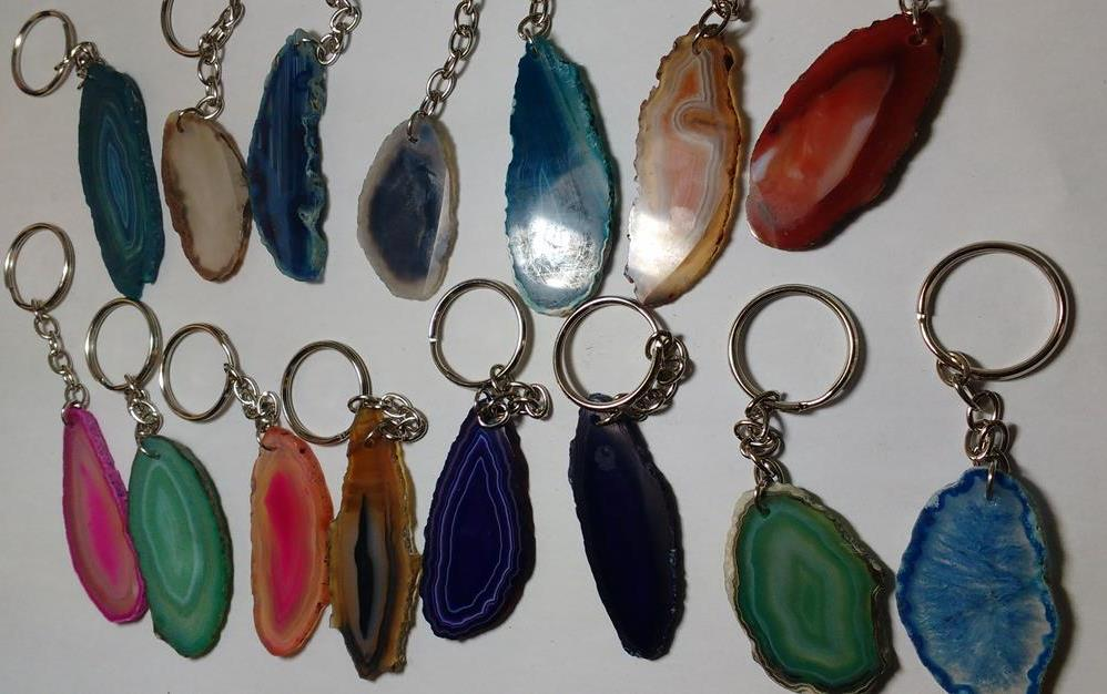 Stones from Uruguay - Agate Slice Keychains
