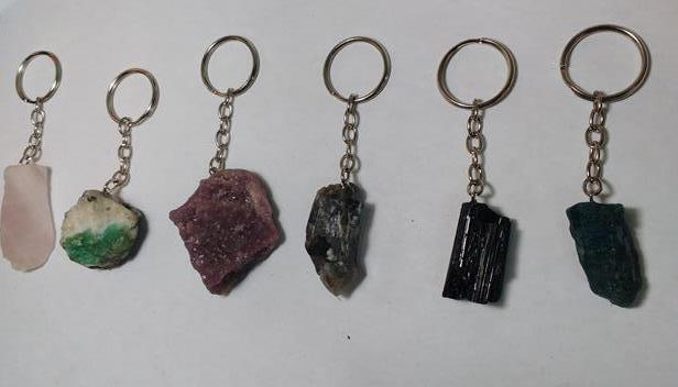 Stones from Uruguay - Rough Gemstone Keychains