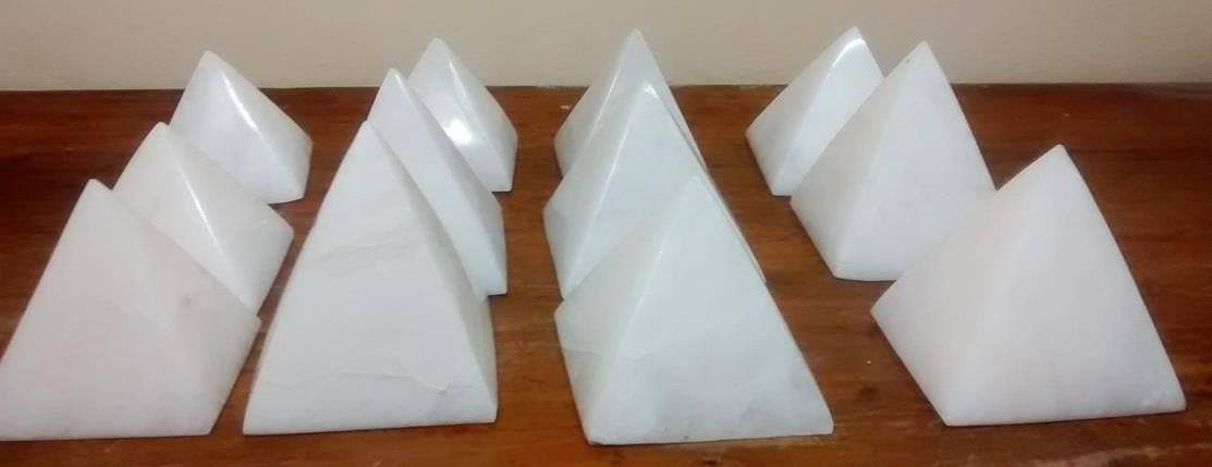 Stones from Uruguay - White Dolomite Pyramid for Decoration, Gift and Home