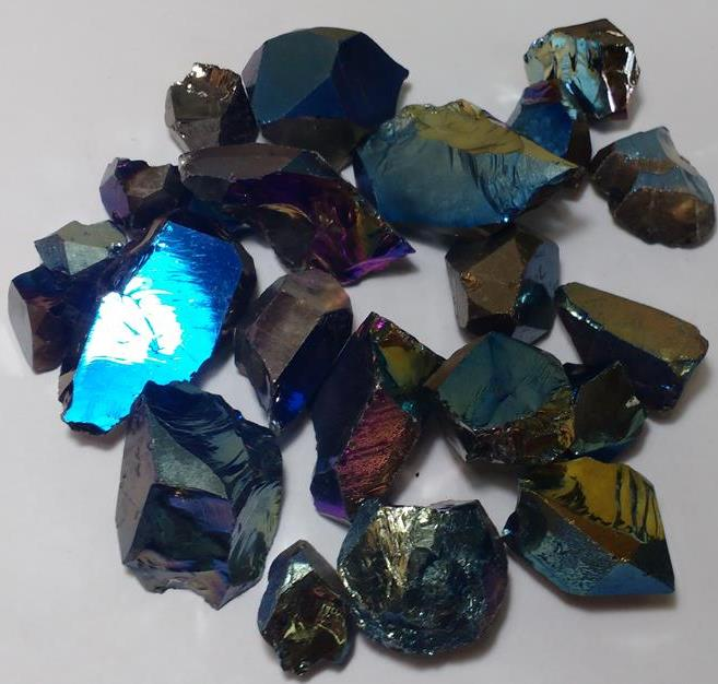 Stones from Uruguay - Titanium Aura 100% Clean Quartz Crystal