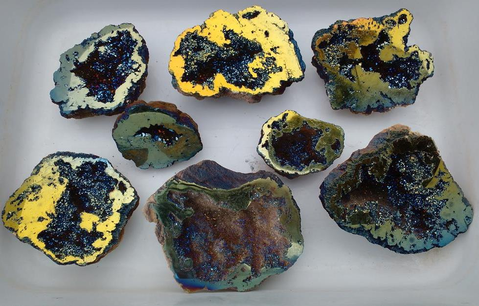 Stones from Uruguay - Aquarelle  Titanium Aura Moroccan Geode for Decoration Spirituality Celestial