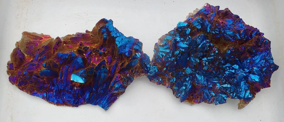 Stones from Uruguay - Cobalt Blue Titanium Aura Amethyst Flower  Crystal Cluster for Psychic and Mystical Qualities