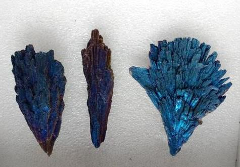 Stones from Uruguay - BLUE COBALT TITANIUM  AURA BLACK KYANITE FOR PENDANTS
