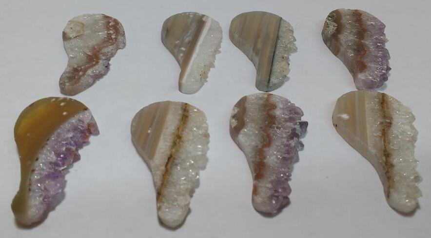 Stones from Uruguay - Amethyst Druzy Wing Slices for Jewelries