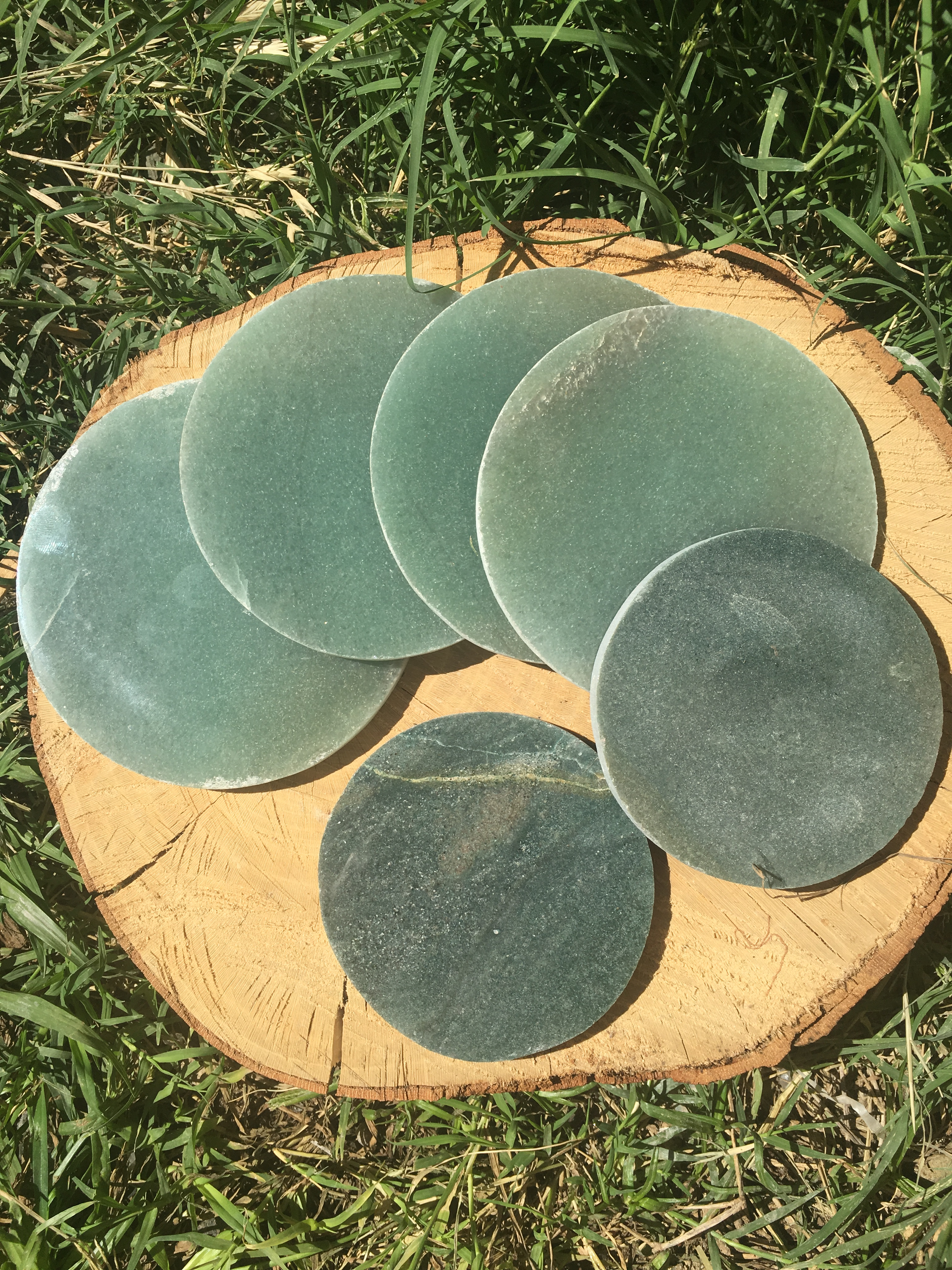 Stones from Uruguay - Green Aventurine Drink  Coasters