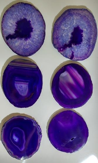 Stones from Uruguay - Purple Agate Slice Coasters, #4