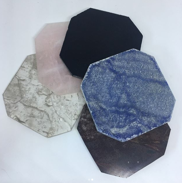 Stones from Uruguay - Hexagon Crystal Coaster,#4,10-12cm