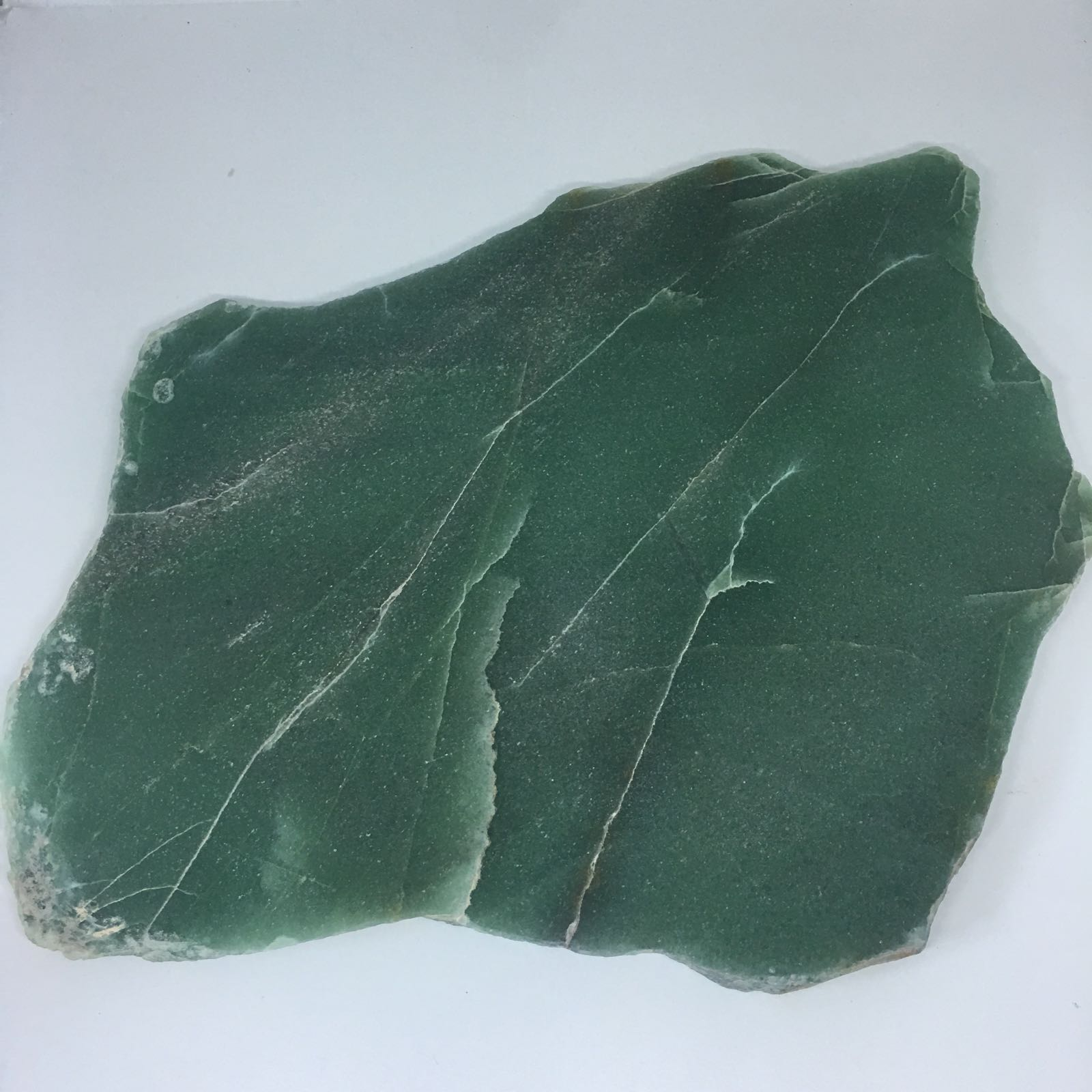 Stones from Uruguay - Green Quartz  Platter  for  Trivet or Table Centerpiece, Size from 23 to 30cm