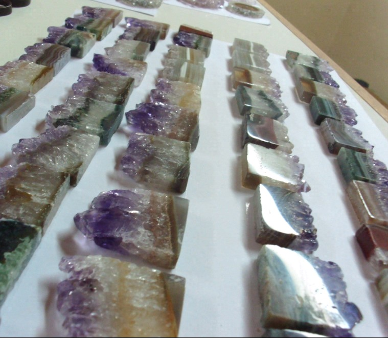 Stones from Uruguay - Amethyst Retangular Slices