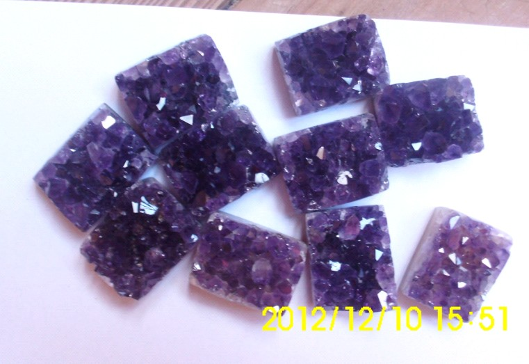 Stones from Uruguay - Amethyst Druzy Rectangle