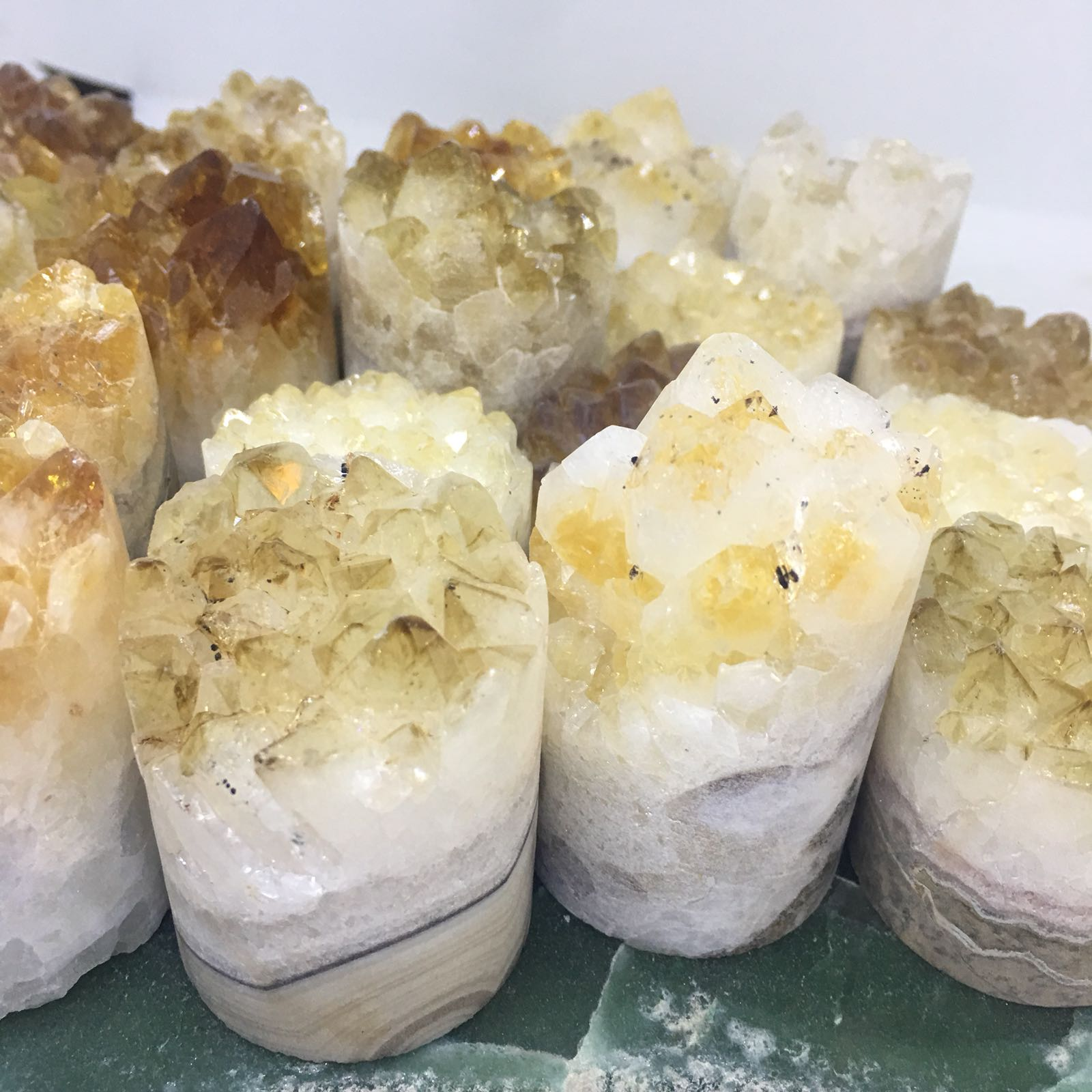 Stones from Uruguay - Rough Citrine  Cluster Cylinder