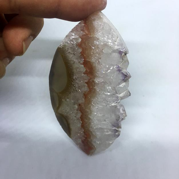 Stones from Uruguay - Extra Large Amethyst Druzy Marquise Slice for  Home Decor