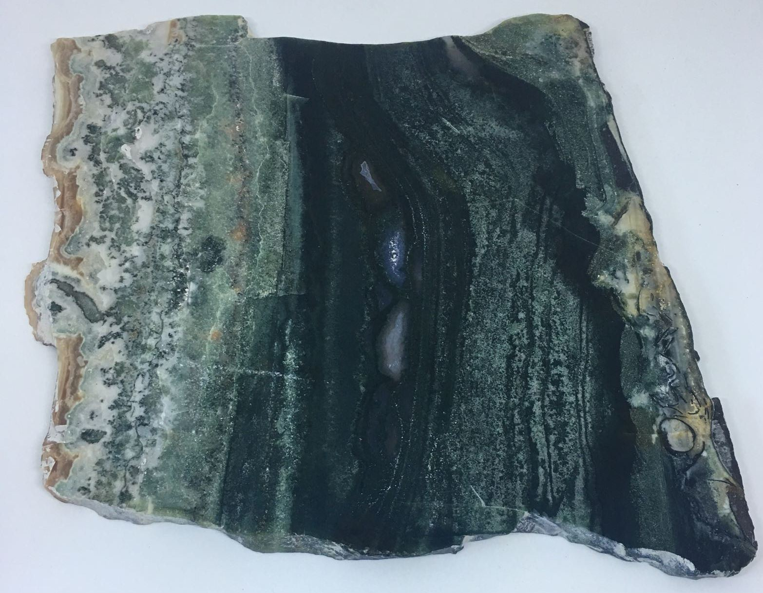 Stones from Uruguay - Green Jasper Platter  for Table Setting, Home Decor & Spiritual Gift