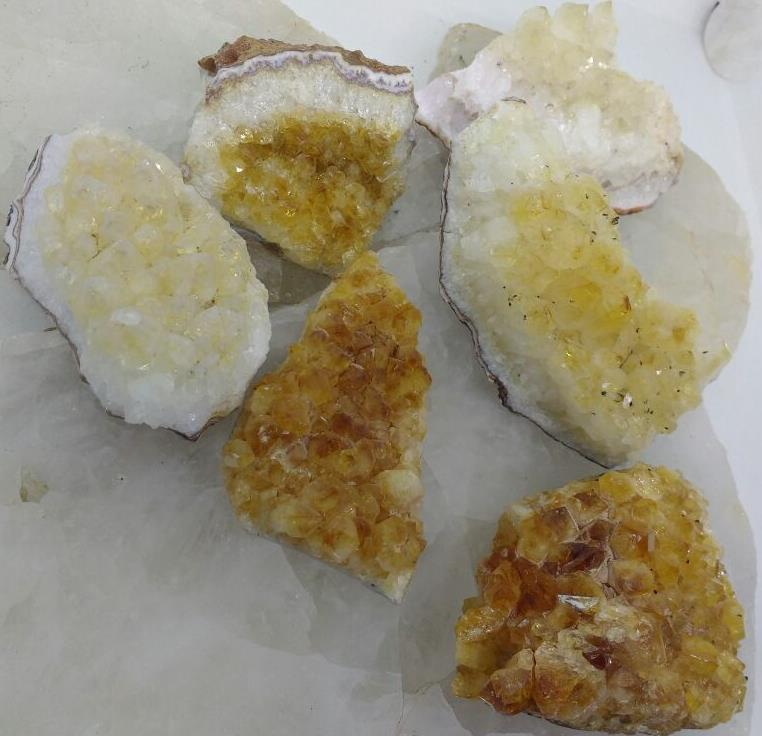 Stones from Uruguay - Rough Citrine Cluster (mixed colors)