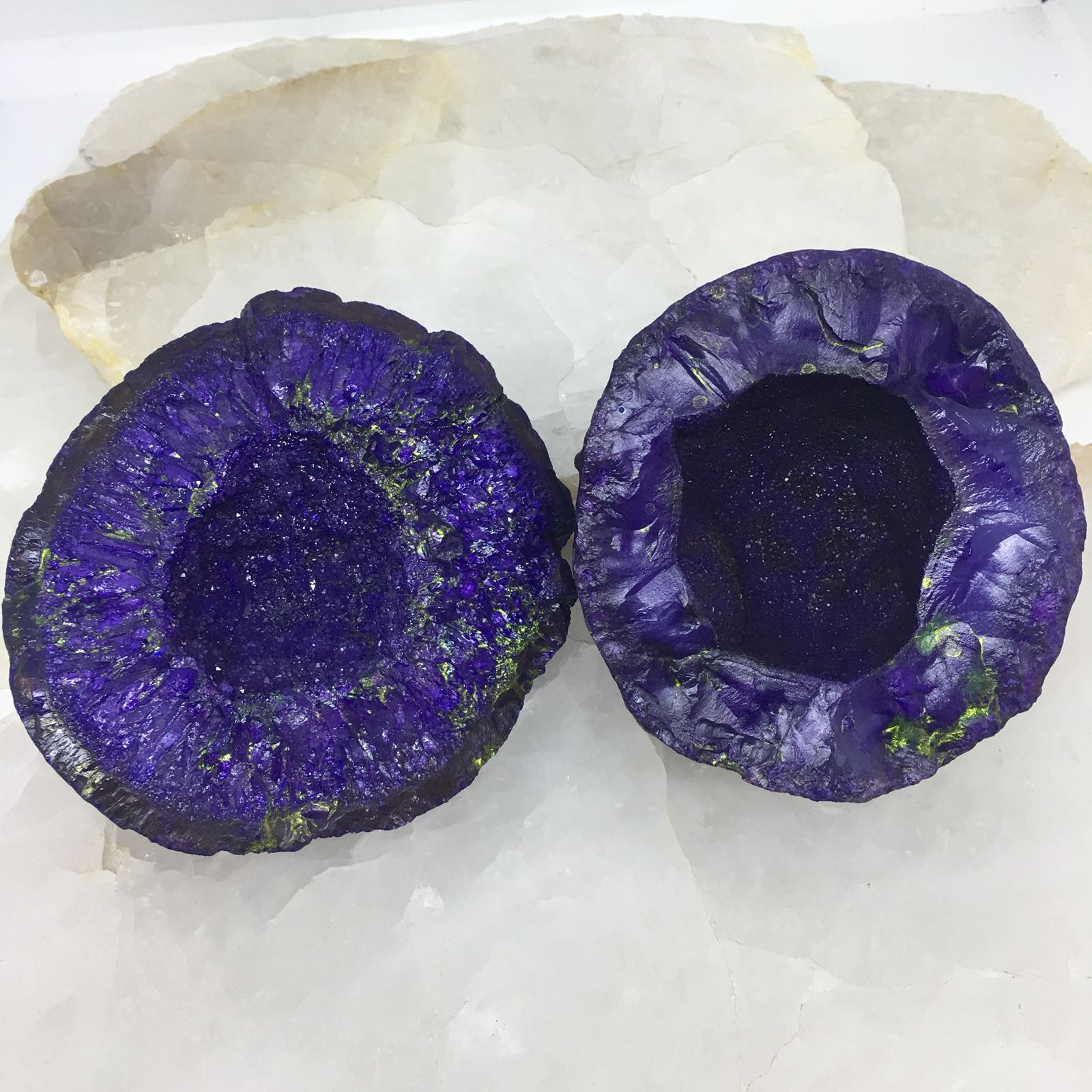 Stones from Uruguay - Purple Dyed Rough Agate Druzy for Decor Home