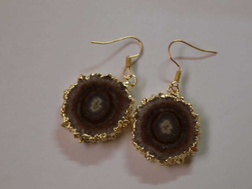 Stones from Uruguay - Amethyst Stalactite Earrings