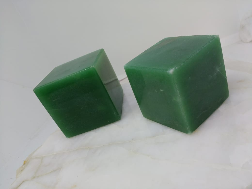 Stones from Uruguay - Green Quartz Crystal Cubes for Reiki Grids and Energy Work.