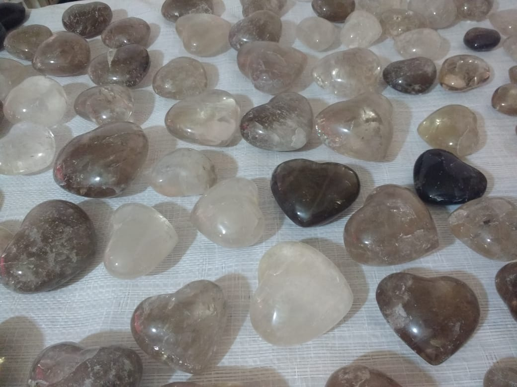 Stones from Uruguay - Smoky Quartz Hearts