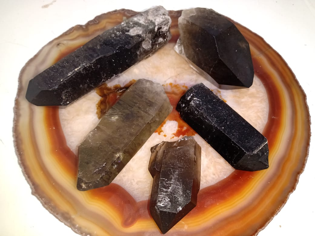 Stones from Uruguay - Smoky Quartz Natural Points - Rough Quartz Crystal Points