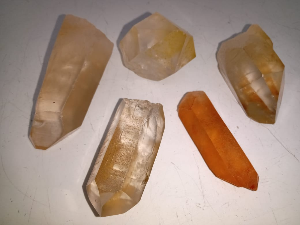 Stones from Uruguay - Natural Tangerine Quartz Points for Home & Decoration