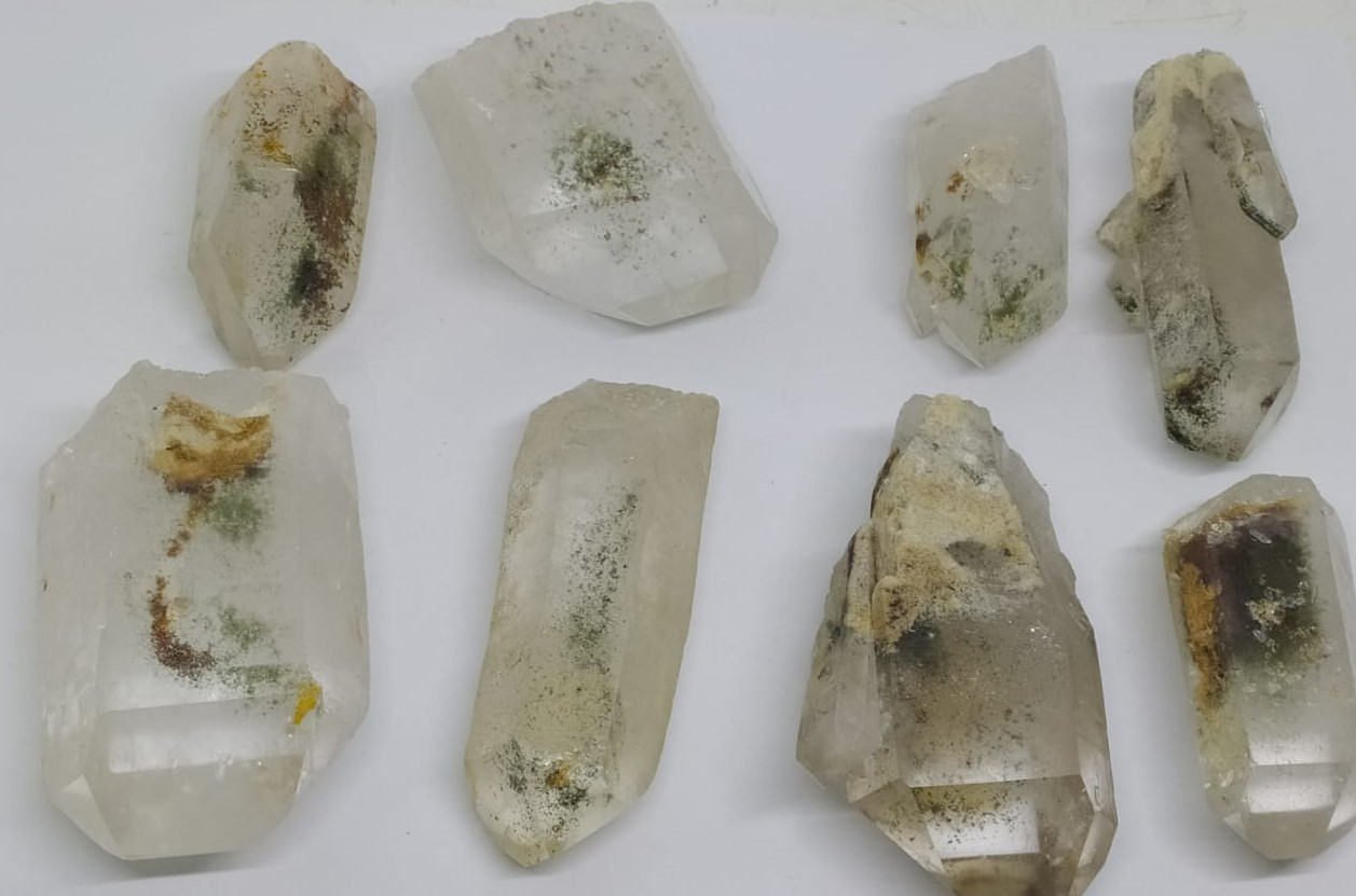 Stones from Uruguay - Quartz Points with Chlorite Inclusions