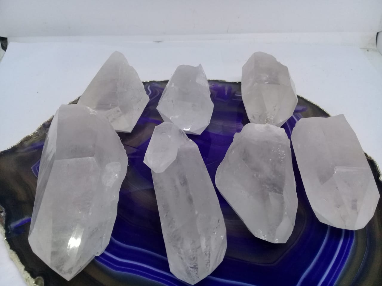 Stones from Uruguay - Natural Clear Quartz Crystal Points