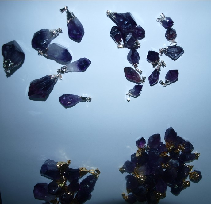 Stones from Uruguay - Amethyst Point with Plating