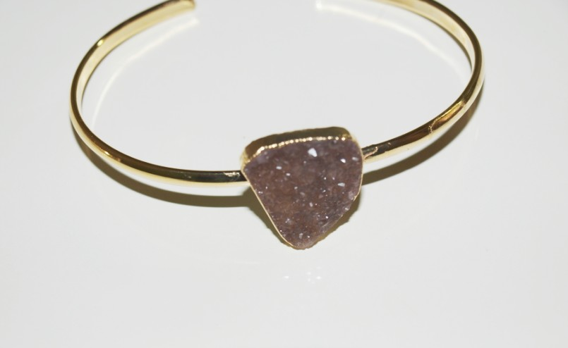 Stones from Uruguay - Bracelet with Druzy Free Form