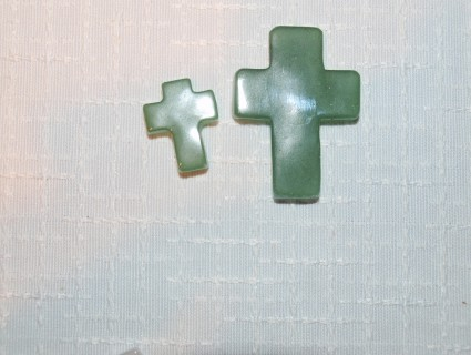 Stones from Uruguay - Green Aventurine Crucifix