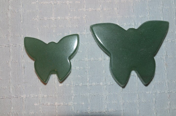 Stones from Uruguay - Green Aventurine Quartz Butterfly