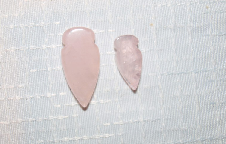 Stones from Uruguay - Rose Quartz Arrowhead