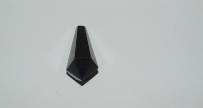 Stones from Uruguay - Black Obsidian Teardrop Polished Point, 6 Facets