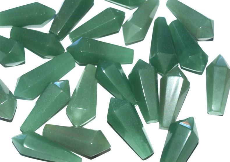 Stones from Uruguay - Green Aventurine Hexagonal Pendulum