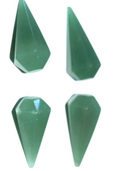 Stones from Uruguay - Natural Green Quartz Dowsing Pendulum